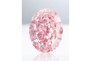 59,60-karatowy różowy diament najdroższym diamentem kiedykolwiek sprzedanym na aukcji.